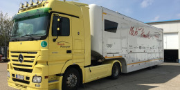 Ex-F1 trailer with Mercedes truck
