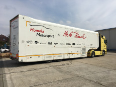 F1 trailer with Mercedes truck (complete package)