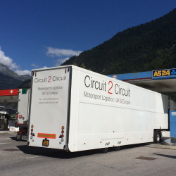 Old race trailer on route to Monza.JPG